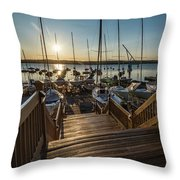 Marina Sunrise Throw Pillow