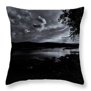 Marina Sunset Black And White Throw Pillow