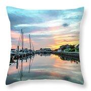 Marina Walk To Hemingway's Throw Pillow