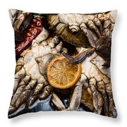 Marinated Fresh Crabs At The Market Throw Pillow
