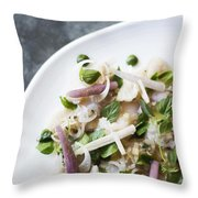 Marinated Tuna Vegetable And Herb Salad Throw Pillow