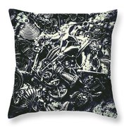 Marine Elemental Abstraction Throw Pillow