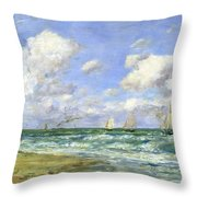 Marine Scene Throw Pillow
