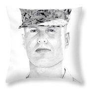 Marine Sgt Joseph Fankhauser  Throw Pillow