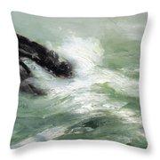 Marine Storm Sea 1911 Throw Pillow