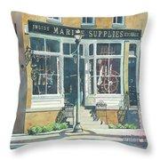 Marine Supply Store Throw Pillow