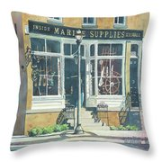 Marine Supply Store Throw Pillow