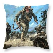 Marines In The Pacific Throw Pillow