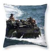 Marines Operate An Amphibious Assault Throw Pillow