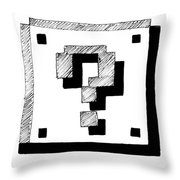 Mario Block Throw Pillow