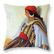 Mario Ridola Woman Throw Pillow