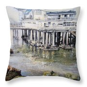 Maritim Club Castro Urdiales Throw Pillow by Tomas Castano