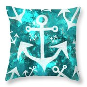 Maritime Anchor Art Throw Pillow by Jorgo Photography - Wall Art Gallery