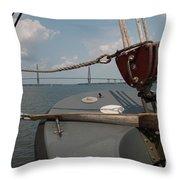 Maritime Bridge View Throw Pillow
