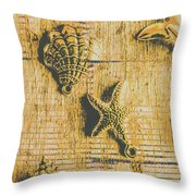 Maritime Sea Scroll Throw Pillow