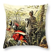Marius Discovered In The Marshes At Minturn Throw Pillow