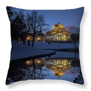 Marjorie Mcneely Conservatory At Dusk Throw Pillow