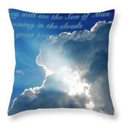 Mark 13 26 Throw Pillow