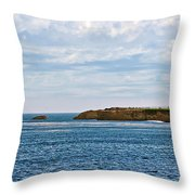 Mark Abbot Memorial Lighthouse - Lighthouse On The Beach - Santa Cruz Ca Usa Throw Pillow