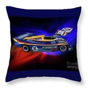 Mark Donohue And George Follmer Porsche Throw Pillow