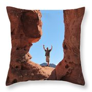 Mark In Valley Throw Pillow