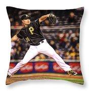 Mark Melancon Baseball Throw Pillow