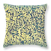 Mark My Rhythm Throw Pillow
