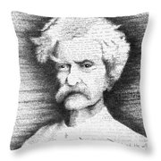Mark Twain In His Own Words Throw Pillow