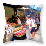 Market At Bensonhurst Brooklyn Ny 1 Throw Pillow