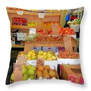Market At Bensonhurst Brooklyn Ny 11 Throw Pillow