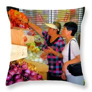 Market At Bensonhurst Brooklyn Ny 2 Throw Pillow