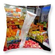 Market At Bensonhurst Brooklyn Ny 3 Throw Pillow