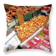 Market At Bensonhurst Brooklyn Ny 4 Throw Pillow