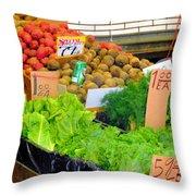 Market At Bensonhurst Brooklyn Ny 5 Throw Pillow