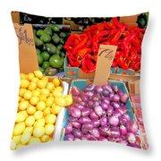 Market At Bensonhurst Brooklyn Ny 6 Throw Pillow