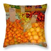 Market At Bensonhurst Brooklyn Ny 7 Throw Pillow