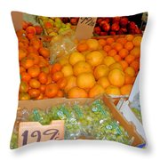 Market At Bensonhurst Brooklyn Ny 8 Throw Pillow
