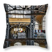 Market Bars And Windows Throw Pillow