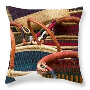 Market Baskets Throw Pillow