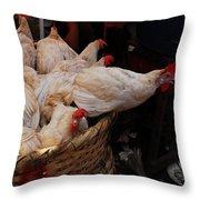 Market Chickens  Grenada Nicaragua Throw Pillow