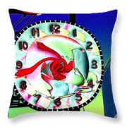 Market Clock 2 Throw Pillow