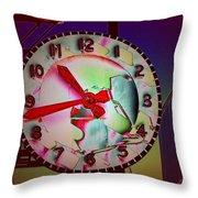 Market Clock 3 Throw Pillow