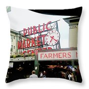 Market Closeup Throw Pillow