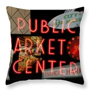 Market Collage Throw Pillow