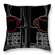 Market Cup 3 Throw Pillow