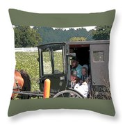 Market Day Throw Pillow