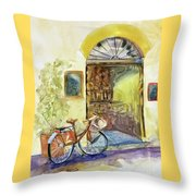 Market Day In Lucca Throw Pillow