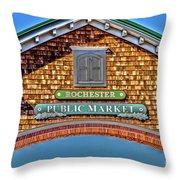 Market Entrance Throw Pillow by William Norton