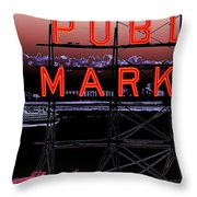 Market Ferry 2 Throw Pillow