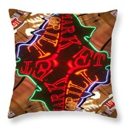 Market Grill Throw Pillow